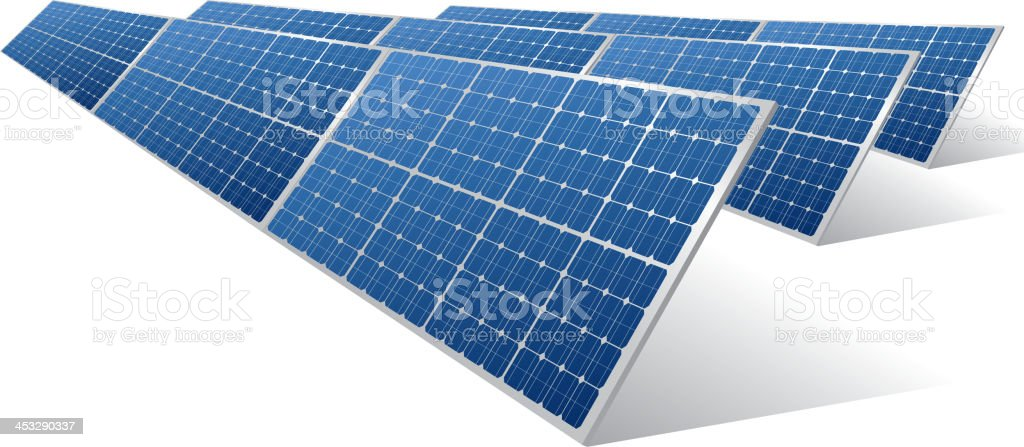 Solar panels vector art illustration