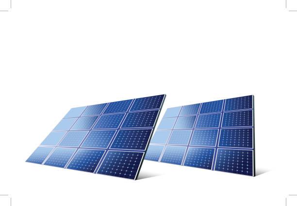 solarkollektoren - solaranlage stock-grafiken, -clipart, -cartoons und -symbole