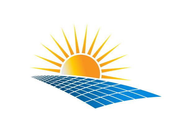 solar power energy symbol vektor-illustration - solaranlage stock-grafiken, -clipart, -cartoons und -symbole