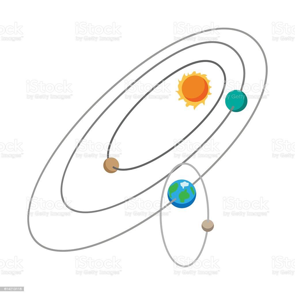Solar system cartoon icon vector art illustration