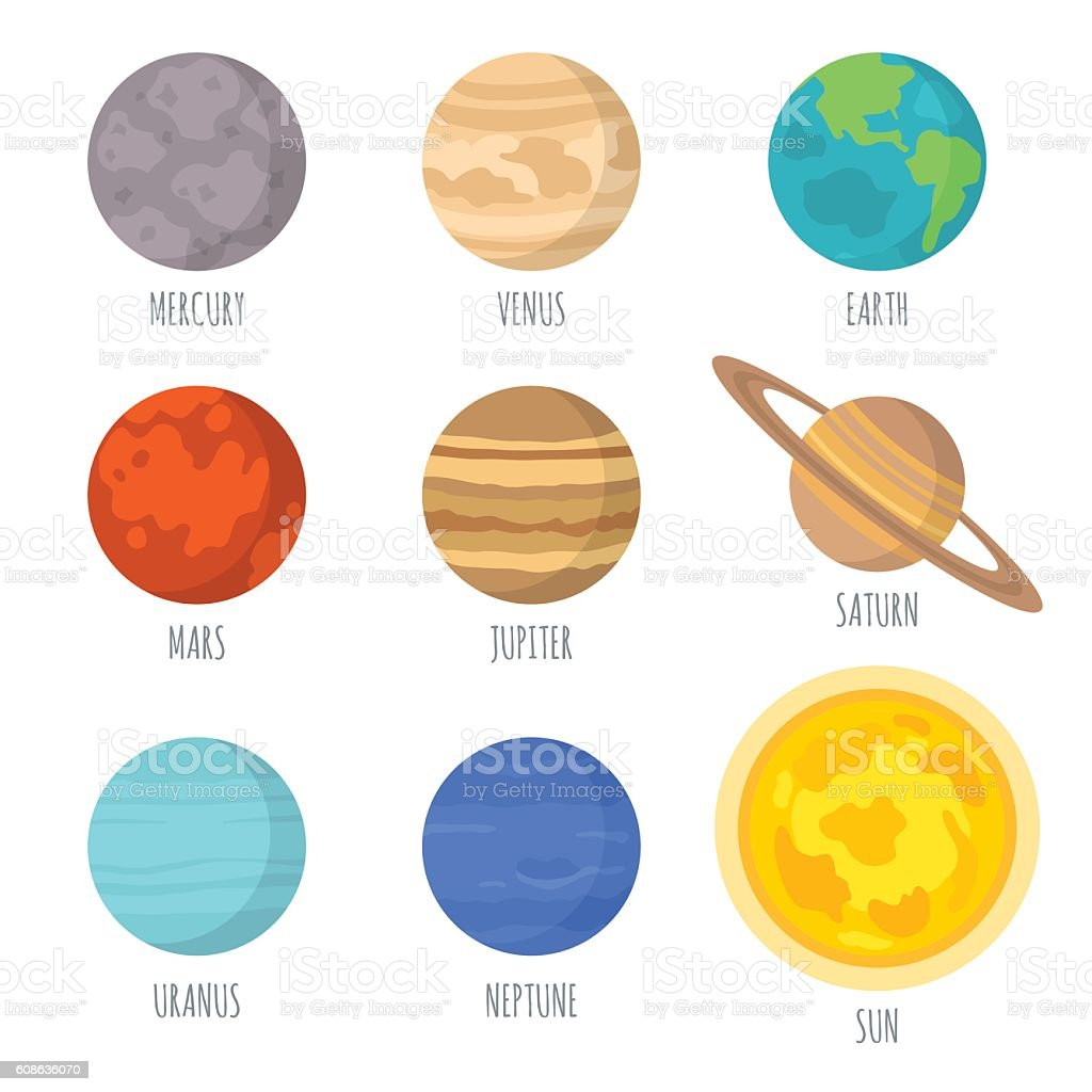 royalty free mercury planet clip art vector images illustrations rh istockphoto com solar system clipart pictures solar system clipart black and white