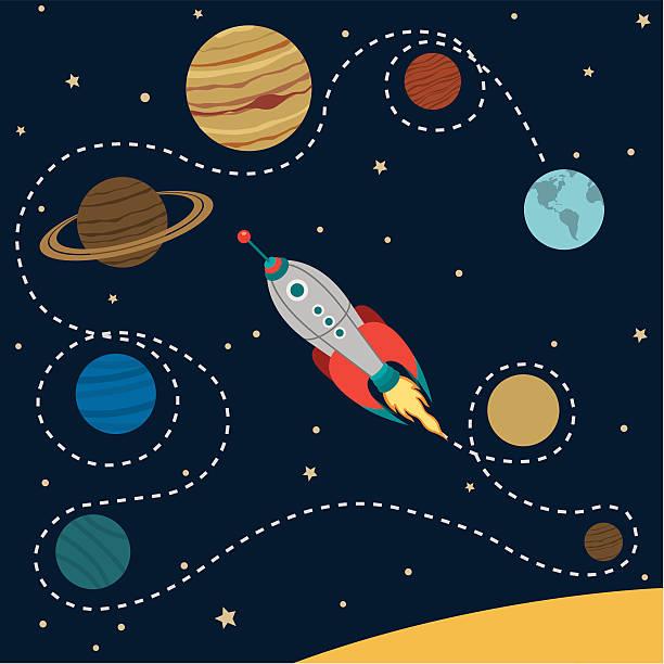 illustrations, cliparts, dessins animés et icônes de système solaire de voyage - venus