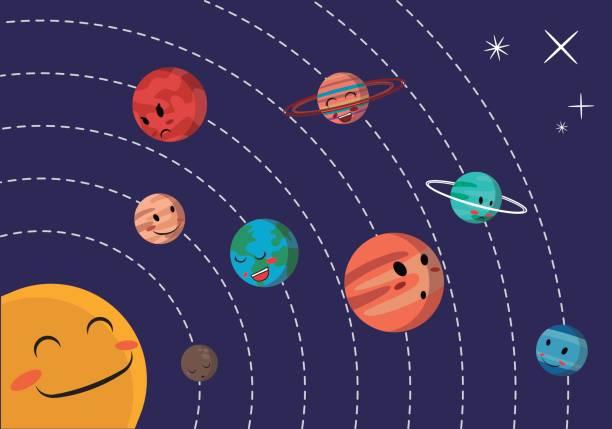 bildbanksillustrationer, clip art samt tecknat material och ikoner med solsystemet vektor - spain solar