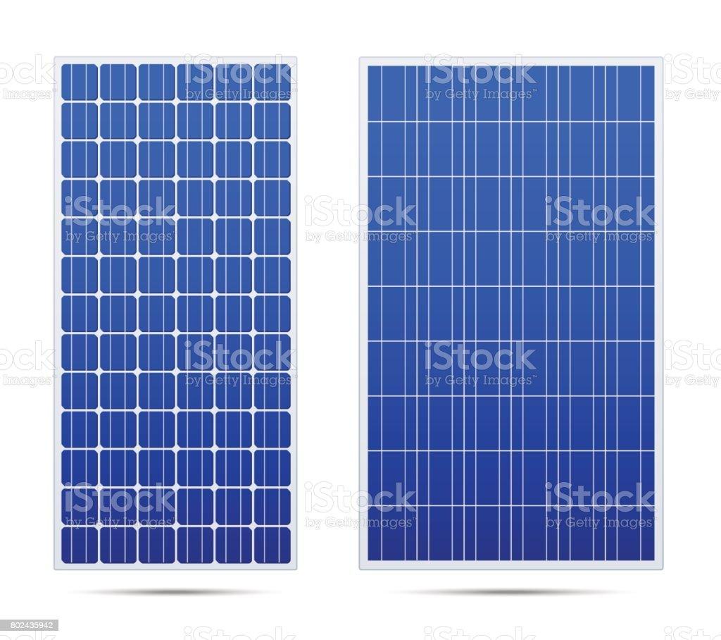 Solar vector panel set vector art illustration