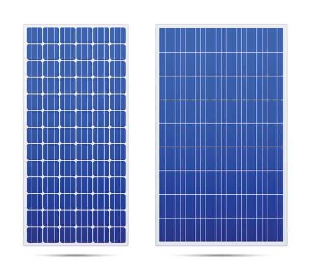 solar-vektor-panel-set - solaranlage stock-grafiken, -clipart, -cartoons und -symbole