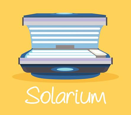 Solarium. Vector flat cartoon illustration
