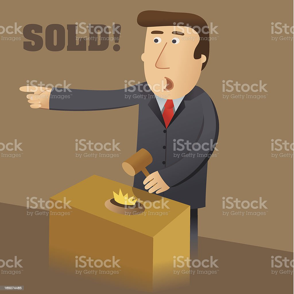 Sold at Auction vector art illustration