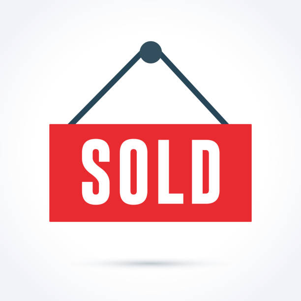sold out sign - sprzedawać stock illustrations