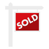 istock Sold Sign Icon on Transparent Background 1283430459
