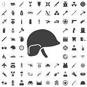 Soldier helmet icon