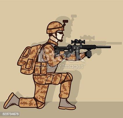 istock Soldier kneeling 523734675