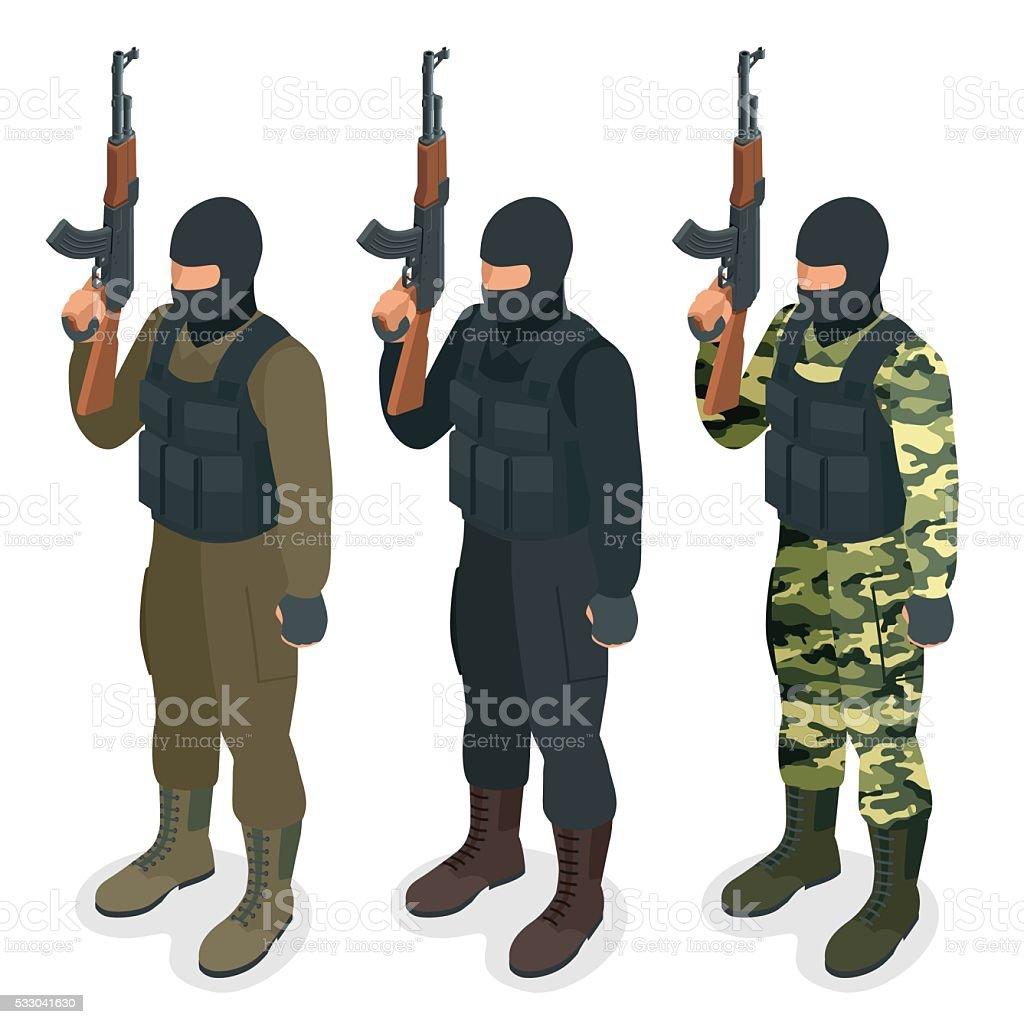 Soldier, officer vector art illustration