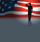 USA Soldier or Boy Scout Salute Background