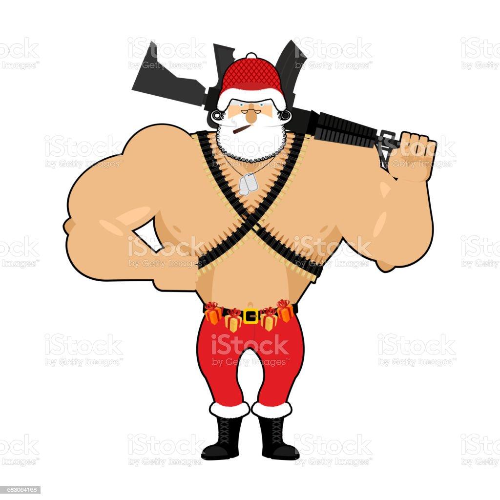 Soldatweihnachtsmann Mit Munition Armeeclaus Weihnachten War ...