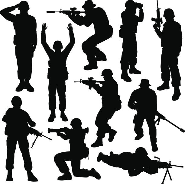 Royalty Free Army Soldier Clip Art, Vector Images ...
