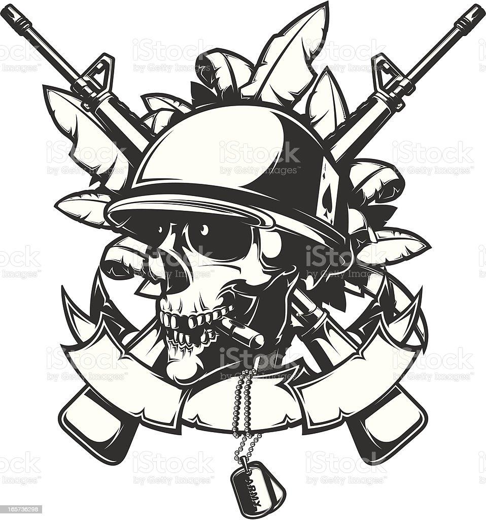 Military Skull Drawings