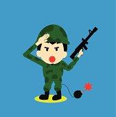 Soldier vector cartoon