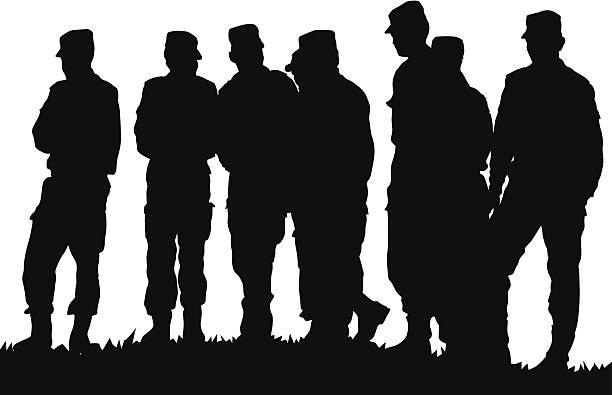 ilustraciones, imágenes clip art, dibujos animados e iconos de stock de soldier - personal militar