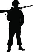 WW2 soldier. Warriors theme