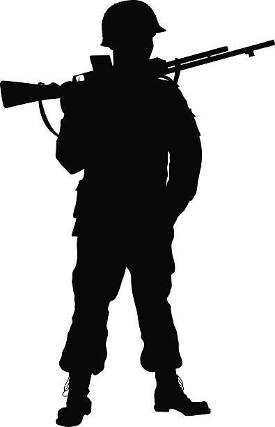 ww2 soldier. warriors theme - world war ii stock illustrations, clip art, cartoons, & icons