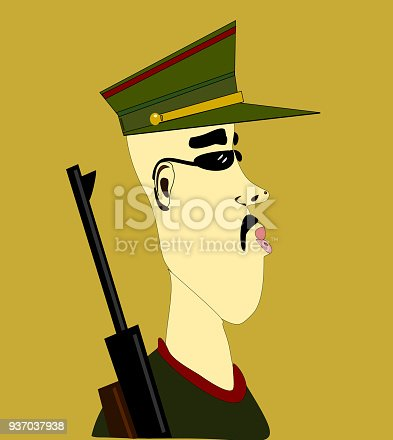 istock soldier with rifle 937037938
