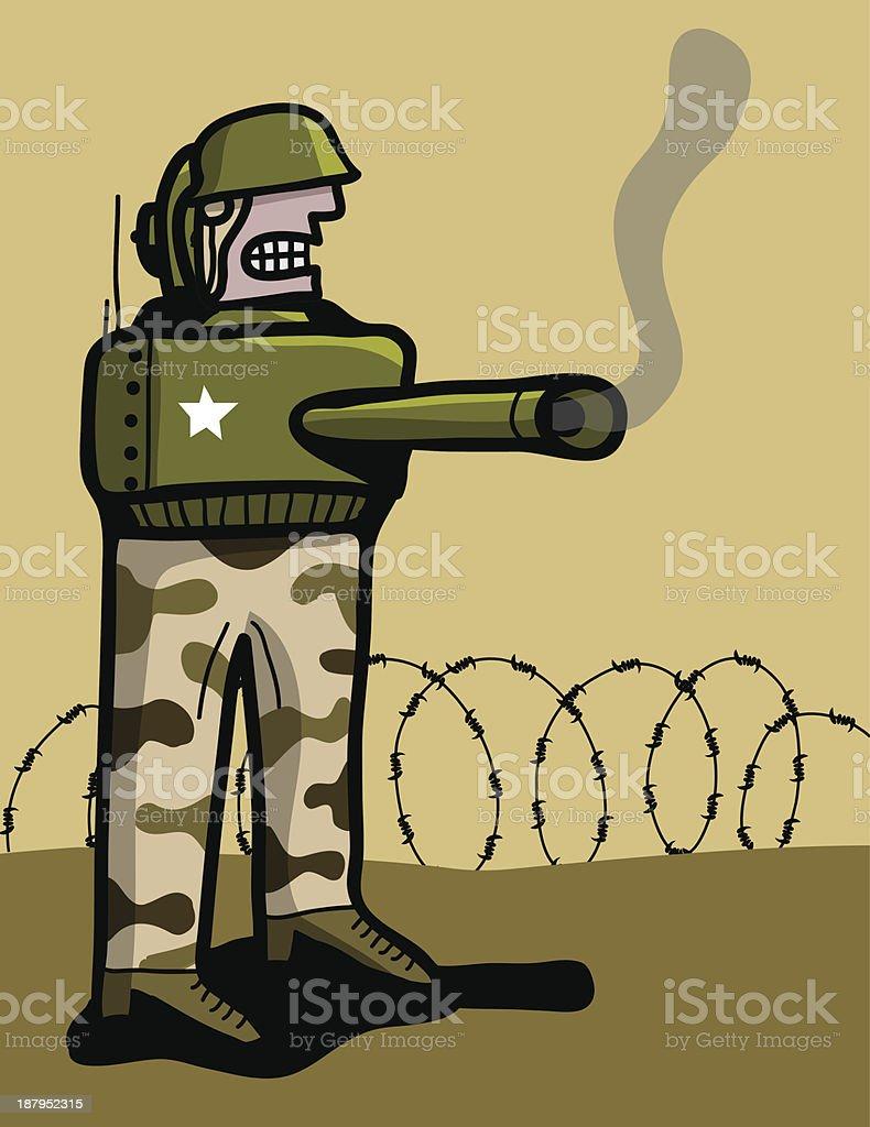 Ilustración de Armadura De Soldado Con Tanque y más banco de ...