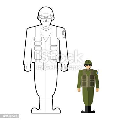 Ilustración de Soldados Libro Para Colorear Militares Vestimenta ...