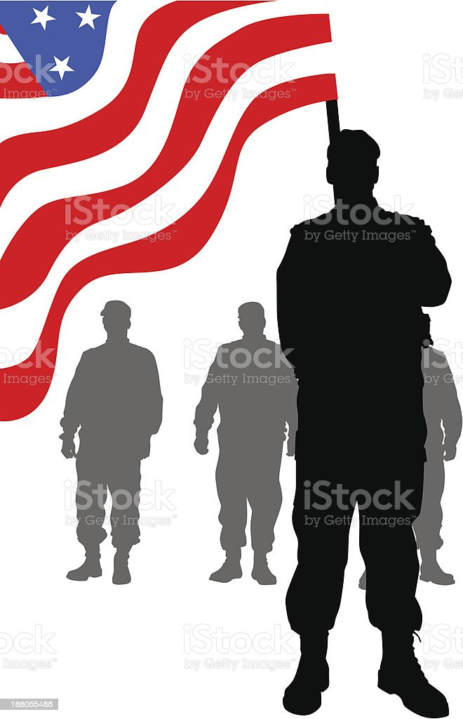 Soldiers under flag royalty-free soldiers under flag stock vector art & more images of adult
