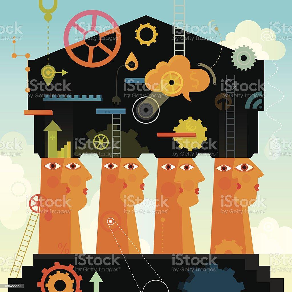 Solid Foundation vector art illustration
