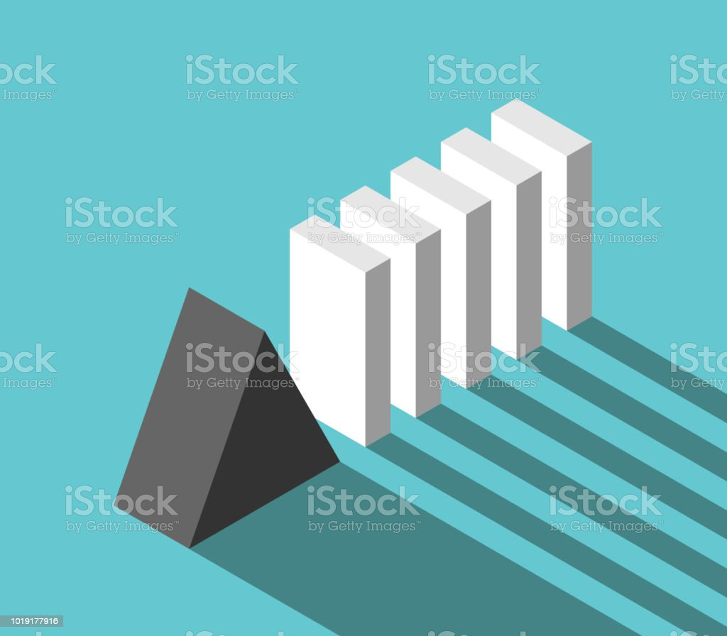 Solide Prisma und Domino – Vektorgrafik