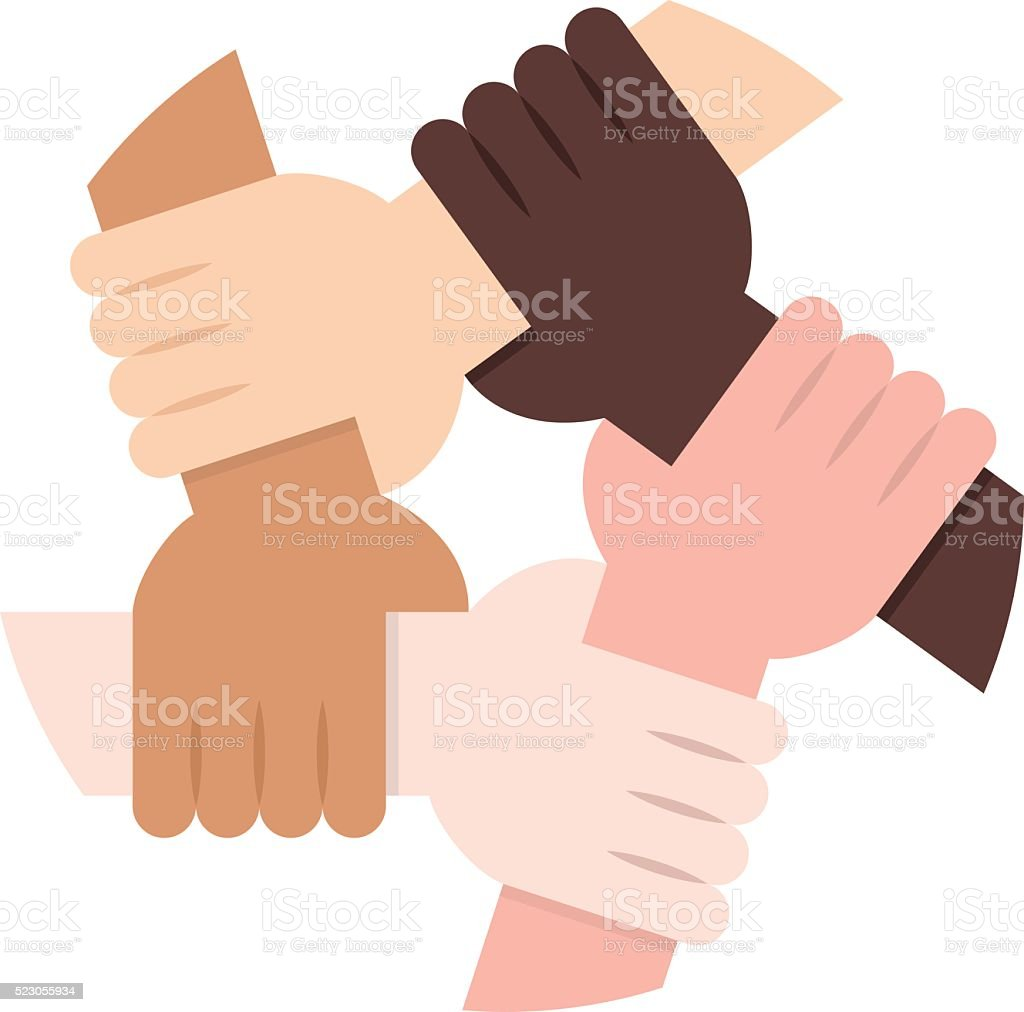 Solidarity Circle on White Background vector art illustration