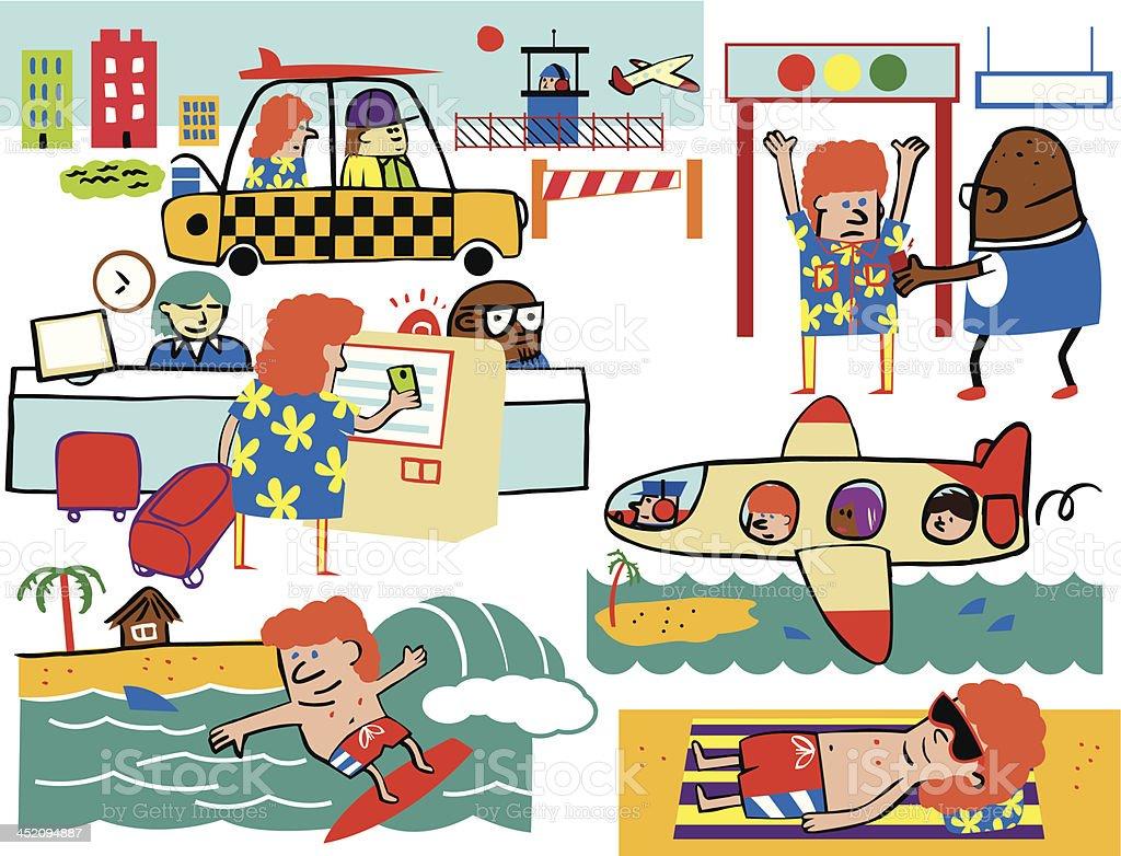 Solo Island Vacation royalty-free stock vector art