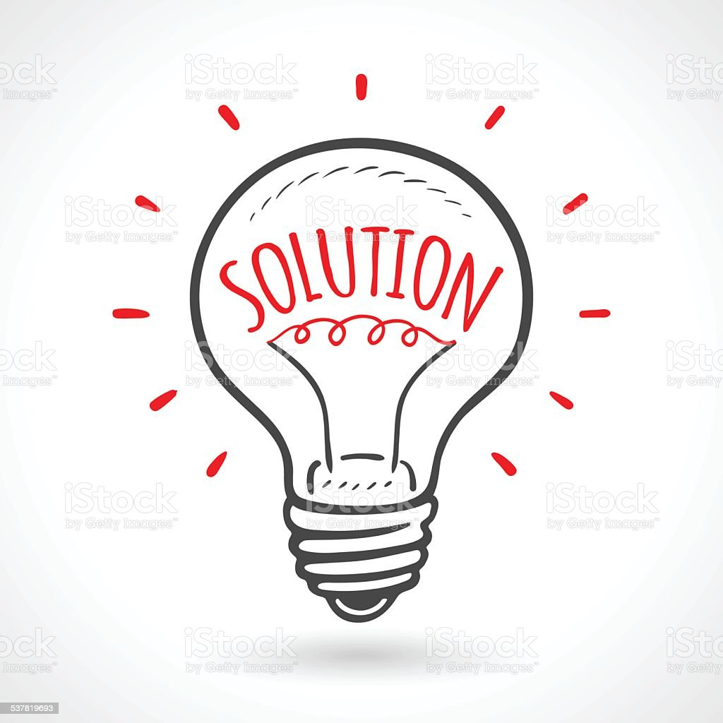Solution Bulb Hand Drawn Idea Concept Gm537819693 57959040 on light bulb conversion