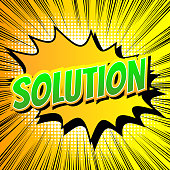 Solution - Comic book style word.