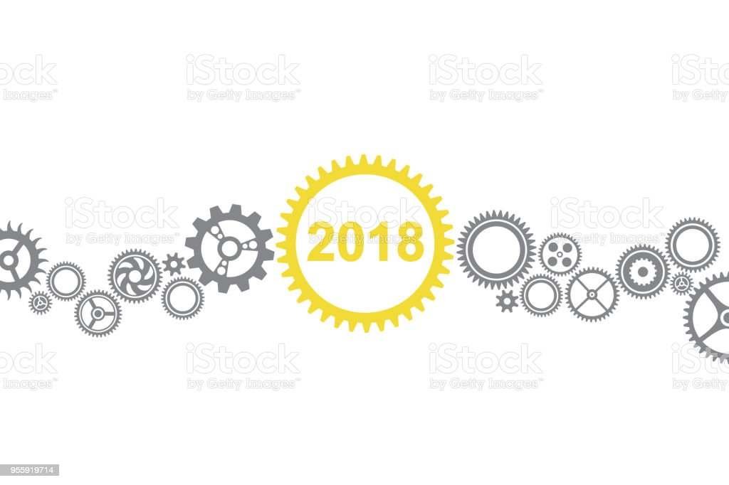 Solution Concepts New Year 2018 - Royalty-free 2018 stock vector