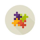 Solution Creativity Puzzle Flat Icon