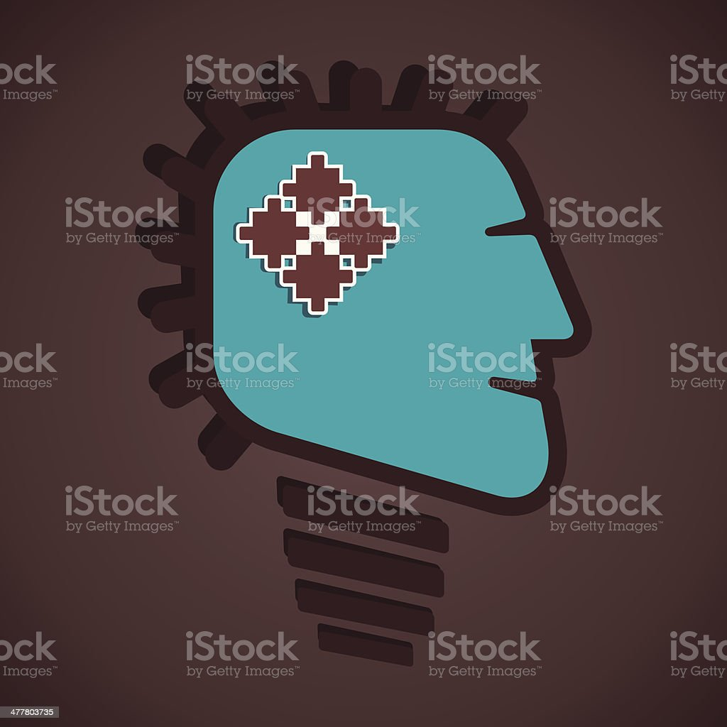 solution in head royalty-free solution in head stock vector art & more images of adult