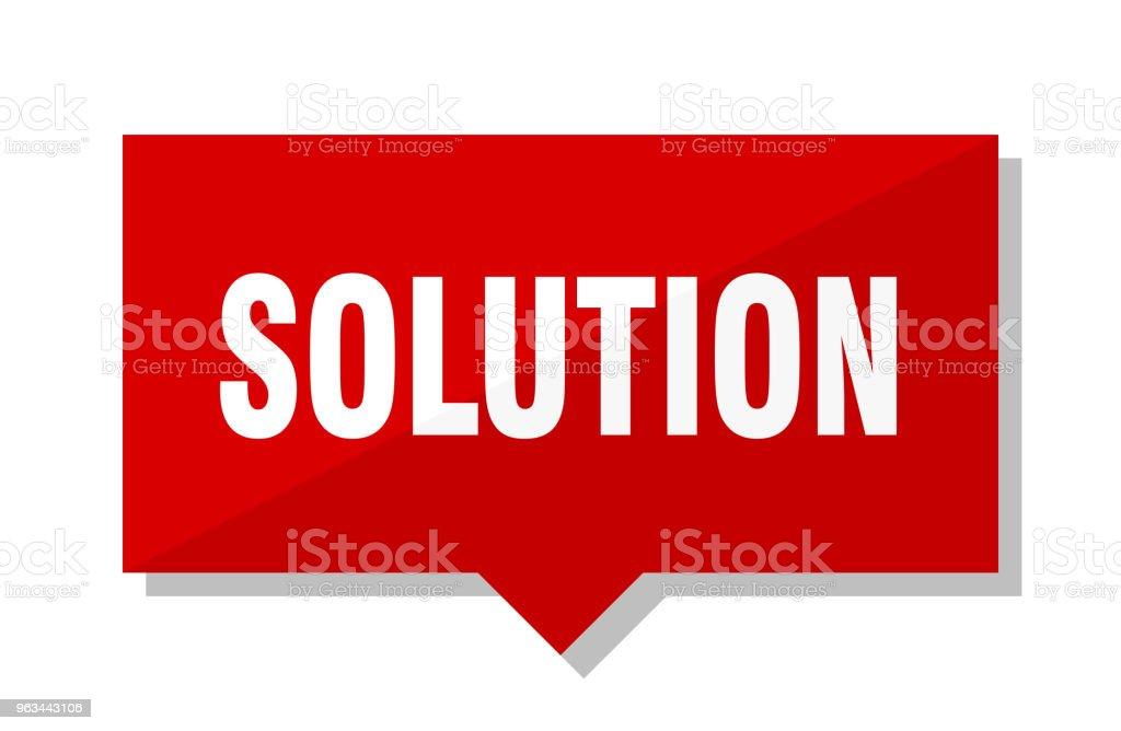 balise de solution rouge - clipart vectoriel de Badge libre de droits