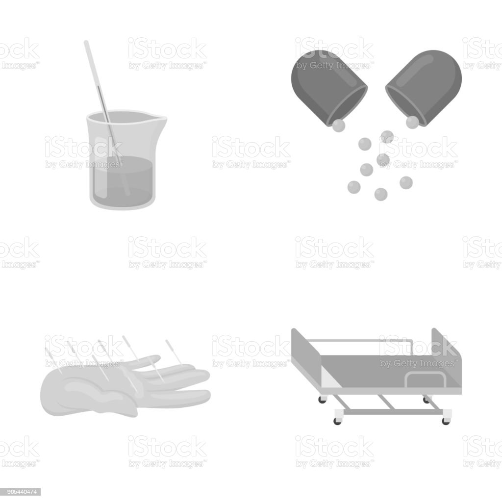 Solution, tablet, acupuncture, hospital gurney.Medicine set collection icons in monochrome style vector symbol stock illustration web. royalty-free solution tablet acupuncture hospital gurneymedicine set collection icons in monochrome style vector symbol stock illustration web stock vector art & more images of acupuncture