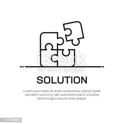Solution Vector Line Icon - Simple Thin Line Icon, Premium Quality Design Element