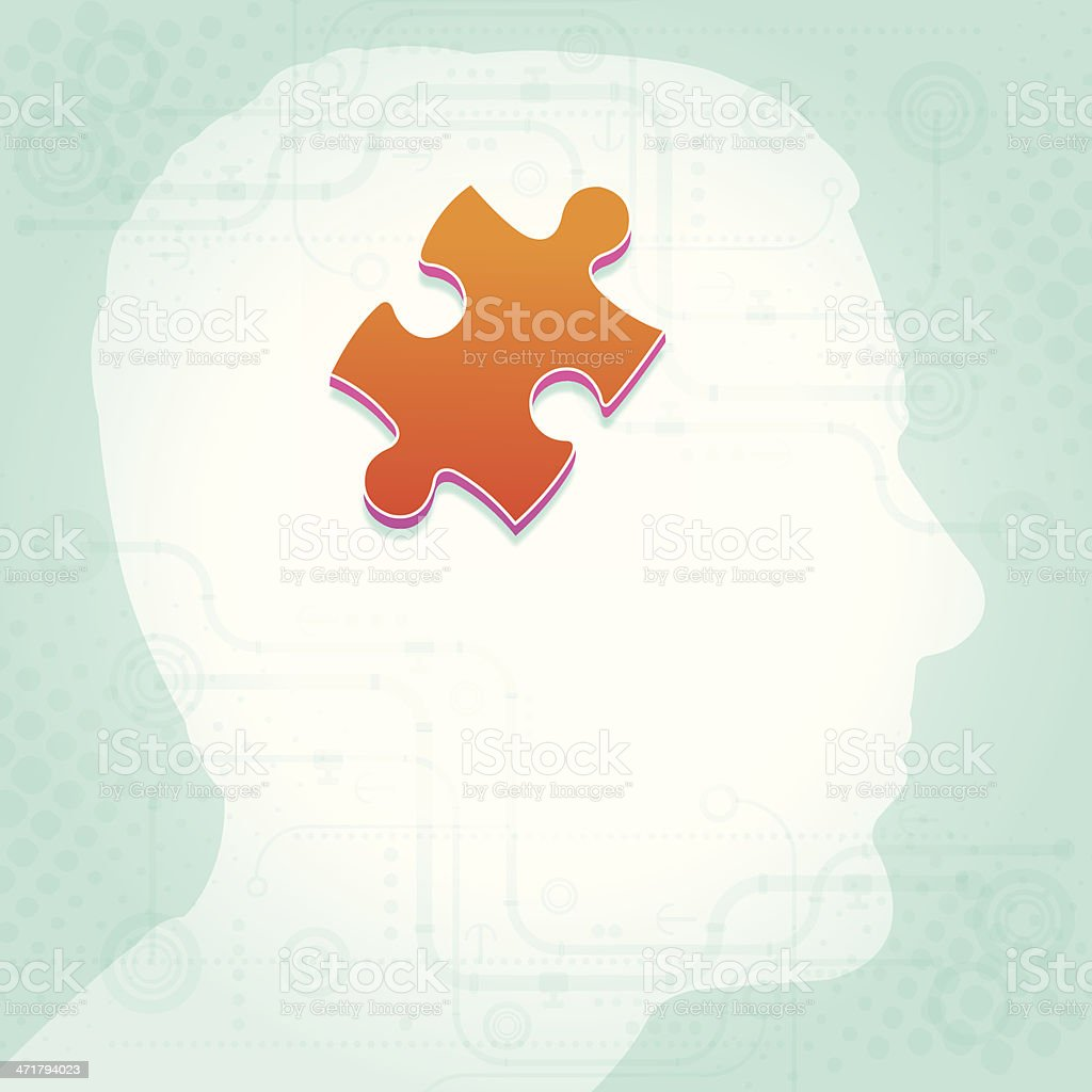 Solving Puzzle in Mind royalty-free solving puzzle in mind stock vector art & more images of achievement