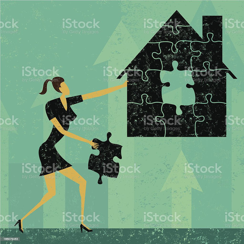 Solving the home mortgage crisis royalty-free solving the home mortgage crisis stock vector art & more images of adult