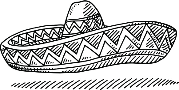 Sombrero Mexcian Hat Drawing
