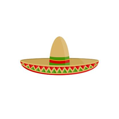 Sombrero Mexican hat icon. Vector