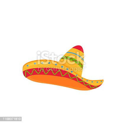 sombrero. mexican hat vector isolated on white background