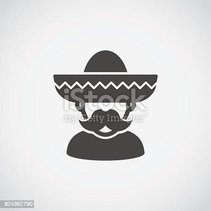 istock Sombrero Mexican man 824362790