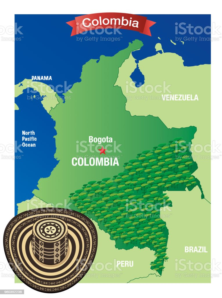 4ba94491f44 Sombrero Vueltiao And Colombia Map Stock Vector Art   More Images of ...