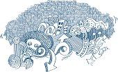 some doodles vector illustration