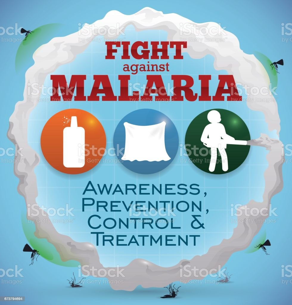 Some Precepts and Activities to Fight against Malaria Vectors векторная иллюстрация