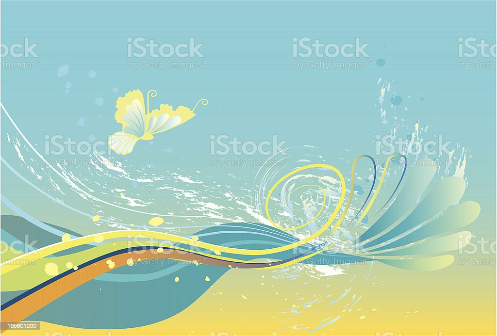 Sommer abstract background royalty-free stock vector art